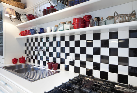 Chessboard Tile, Kitchen Interior