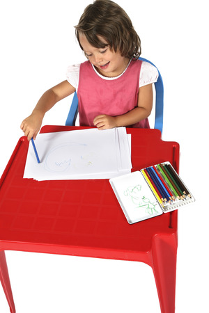 sitted: young girl sitted at the desk