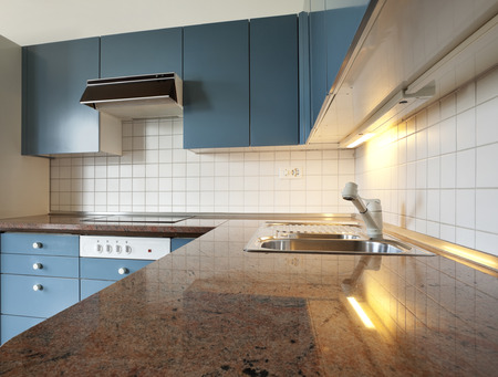 marble tiles and kitchen photo