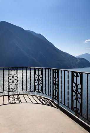 balcony view: villa balcony, view lake
