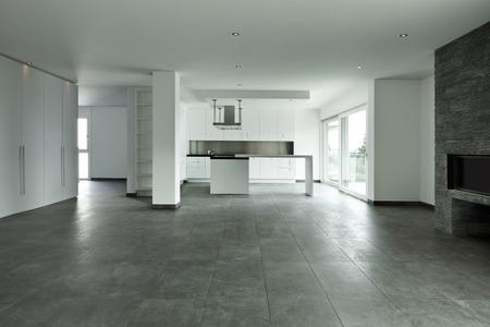 新しいアパート、キッチン ビュー 写真素材