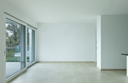 wide open spaces: new apartment, living room large