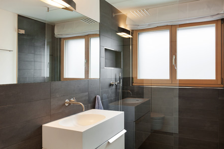 modern bathroom design: Architecture, comfortable apartment, bathroom view