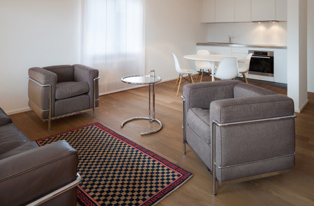 apartment living: Architecture, comfortable apartment, wide living room