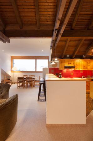 comfortable: Architecture, comfortable apartment, kitchen view