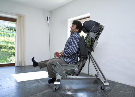 sitted: man sitted on a chair