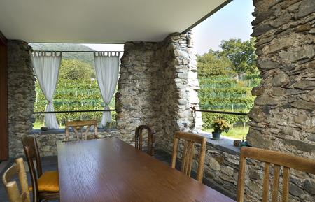 Stone Veranda Exterior Stock Photo Picture And Royalty Free Image Best Veranda Dining Rooms Exterior