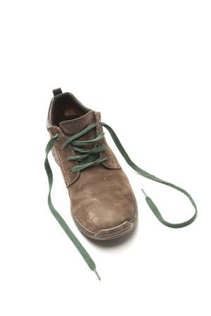 winterly: Leather shoe on white background