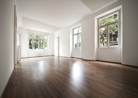 unfurnished: empty apartment interior