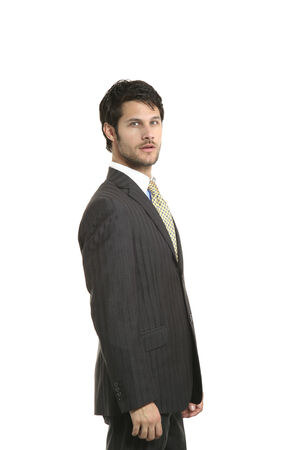 business man studio portrait over white background Stock Photo