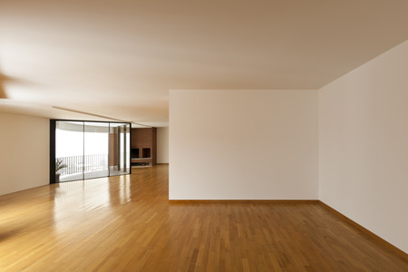 empty: beautiful apartment, interior, big empty room Stock Photo