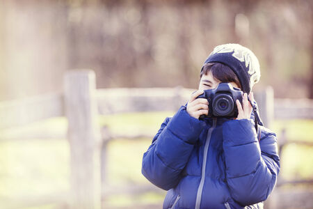 photographing: photographing outdoor