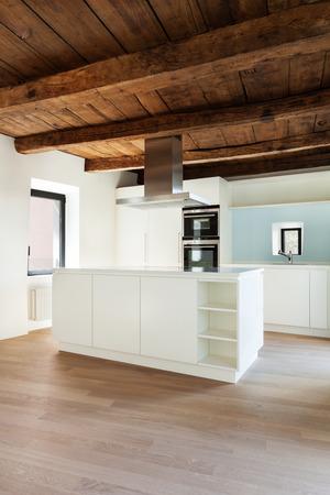 kitchen furniture: beautiful  loft, view domestic kitchen, modern furniture