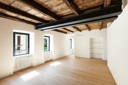 many windows: modern loft, empty room with many windows