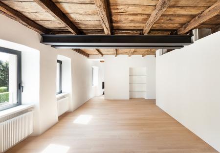 wide open spaces: modern loft, empty room with windows