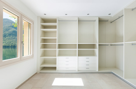 Interior of a new empty house, dressing room
