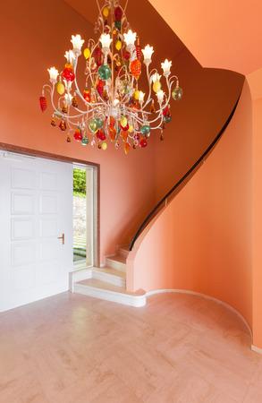 wide open spaces: Interior, luxury villa, entrance with chandelier
