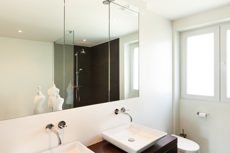 bathroom interior: modern house, interior, bathroom view