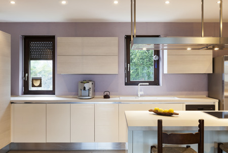 kitchen cabinet: nice modern loft, view of the kitchen