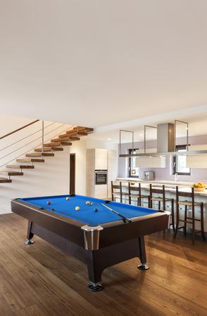 billiards room: modern loft, room with billiard