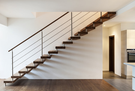 stairs interior: Beautiful modern loft, staircase view