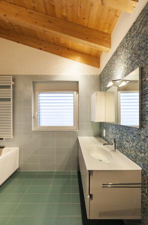 nice modern loft,  bathroom view photo
