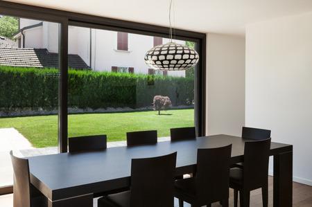 현대 빌라, 간, 아름다운 식당 스톡 콘텐츠