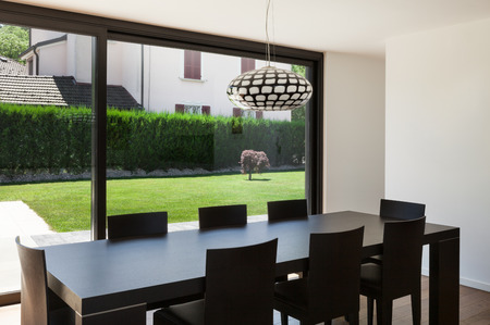 dining room: Modern villa, interior, beautiful dining room