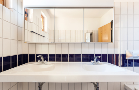 nice house: Architecture, interior house, nice bathroom Stock Photo