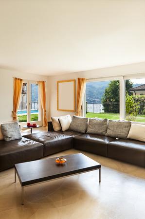 nice living: interior house, nice living room with leather sofa