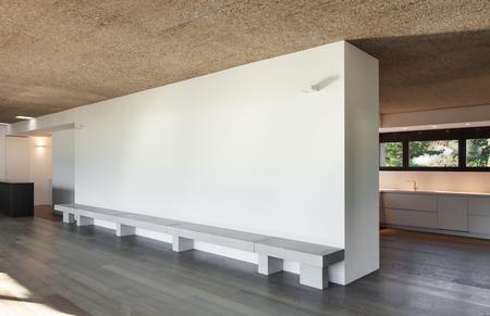 piso piedra: Arquitectura, moderno apartamento, habitación vacía, suelo de parquet