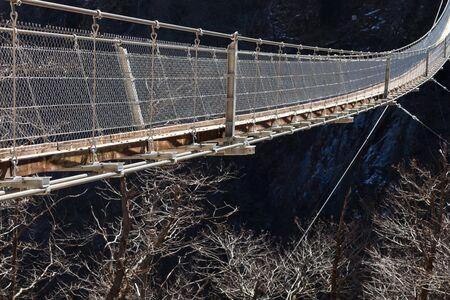 drawbridge: Suspension bridge over the valley