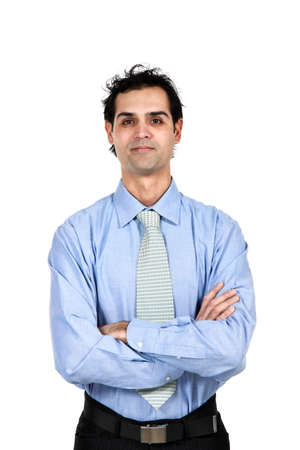 business man over white background Stock Photo