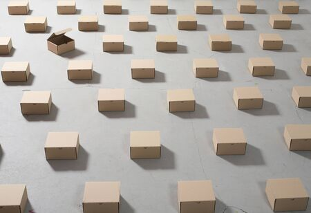 packing boxes: geometry packing boxes on the floor