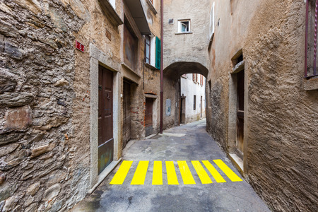 insertion: concept, crosswalks in the alley