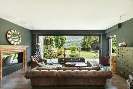 krásný obývací pokoj, klasický nábytek, interiér