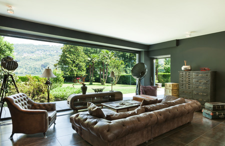 living: beautiful living room, classic furniture, interior