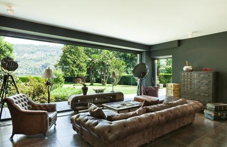 mooie woonkamer, klassiek meubilair, interieur