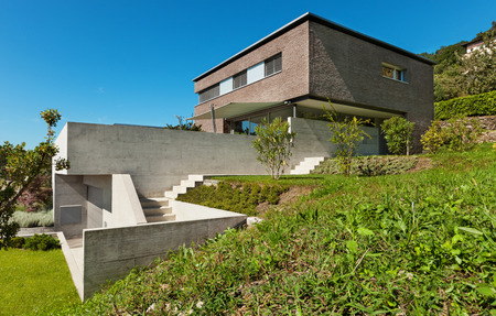 architecture and buildings: Architecture modern design, beautiful house, outdoor