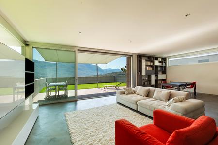 Architektura Moderní design, interiér, obývací pokoj Reklamní fotografie