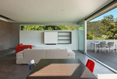 case moderne: Architettura design moderno, interni, soggiorno