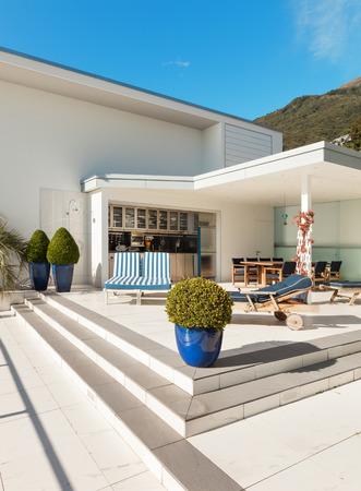 beautiful terrace of a penthouse photo