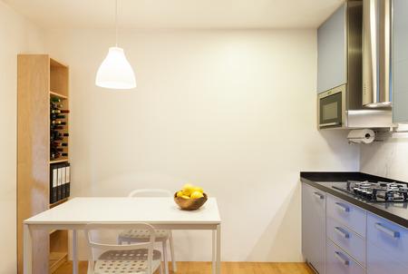 Nice apartment interior of comfortable domestic kitchen 스톡 콘텐츠