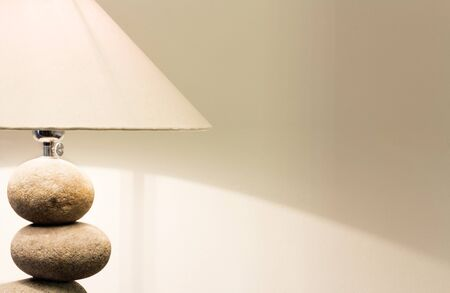 table lamp: Interior of modern house with table lamp Stock Photo