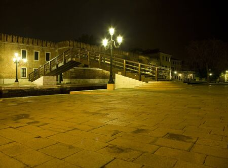 strret: Historical bridge of the canal of Venice