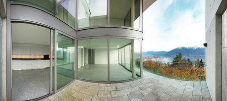 balcony: Architecture, modern building, view from the terrace