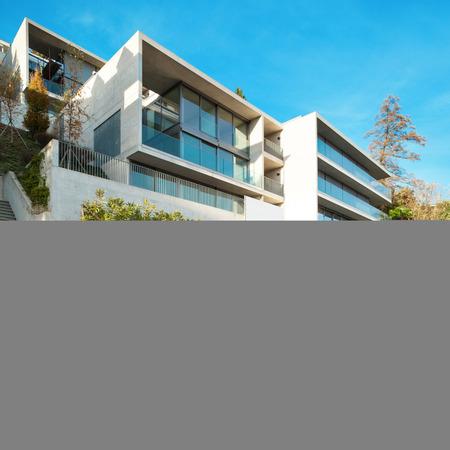Fachada: La arquitectura moderna, construcción, vista desde fuera
