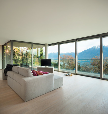 Modern architecture, nice apartment, living room view