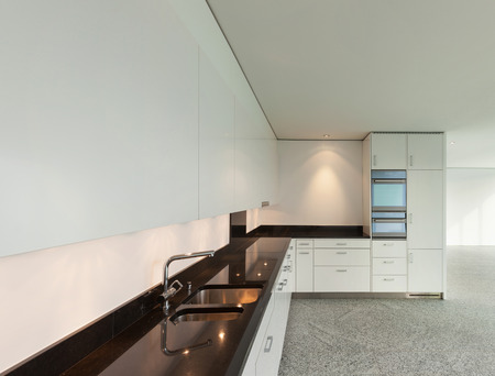 wide open spaces: Modern architecture, wide apartment, domestic kitchen view