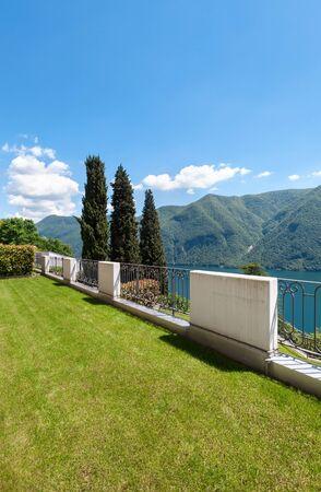 garden green: home with garden, green balcony